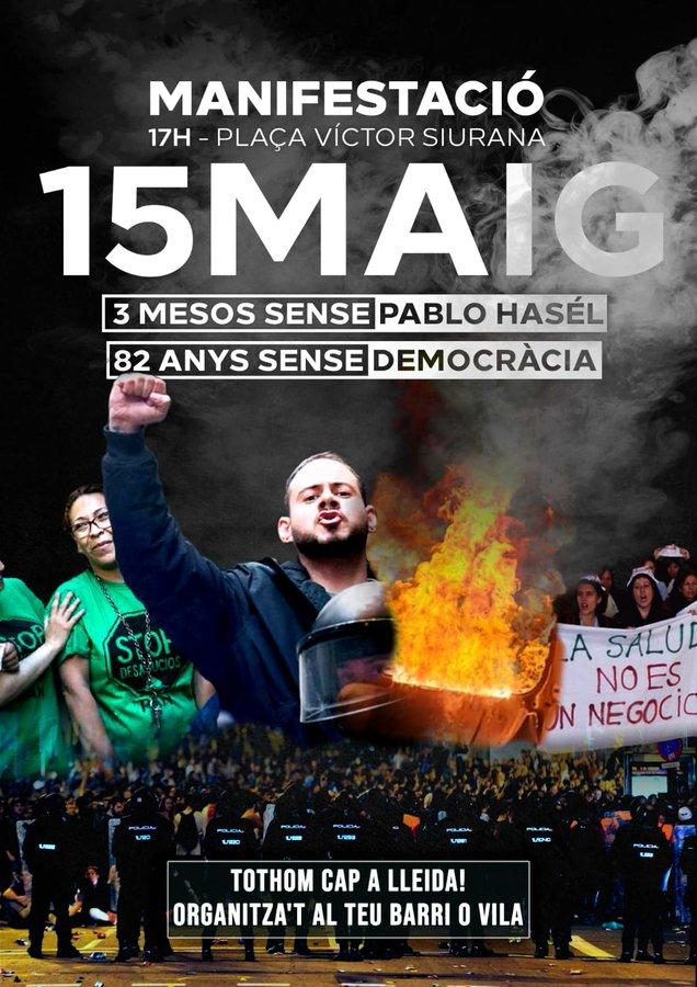 Manifestació per la llibertat Pablo Hasel