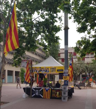 Parada informativa a Vilafranca del Penedès