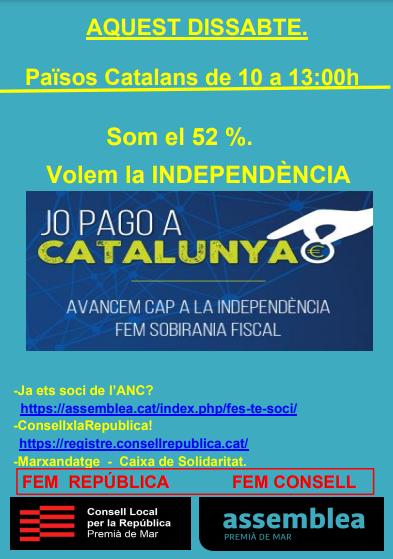 Taula Informativa ANC Som el 52% Sobirania Fiscal