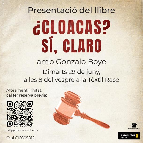 """Presentació del llibre """"¿Cloacas? Sí claro"""" amb Gonzalo Boye"""