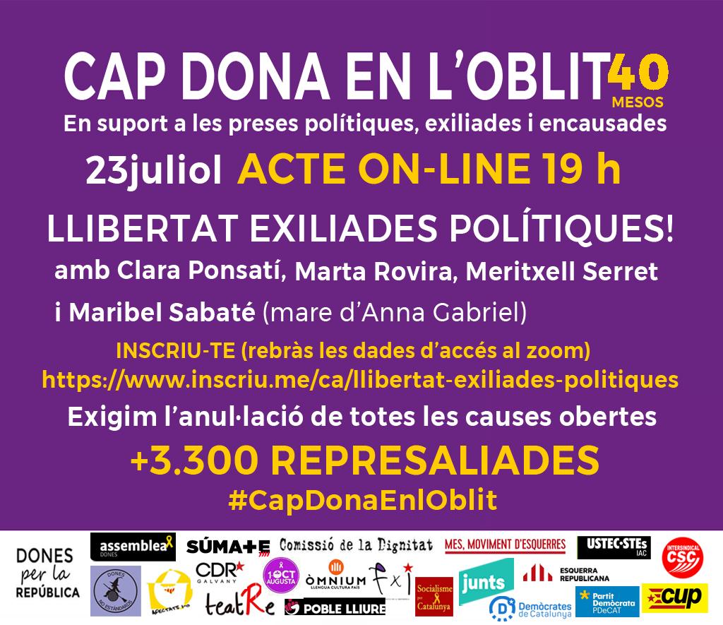 Llibertat Exiliades polítiques. 40 mesos d'Injustícia
