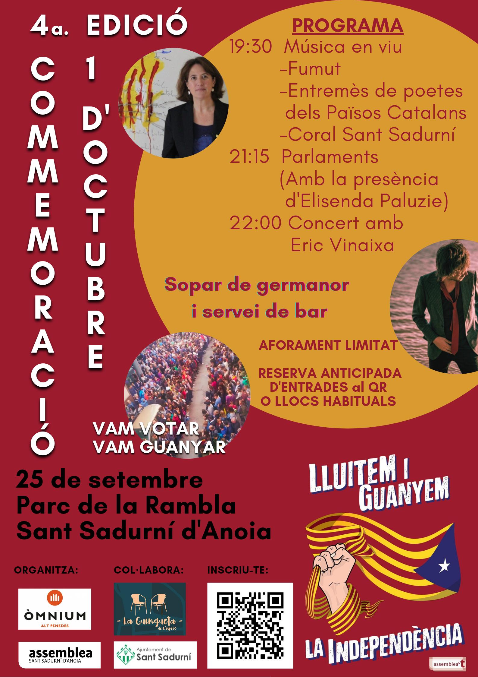 Commemoració de l'1-O a Sant Sadurní d'Anoia