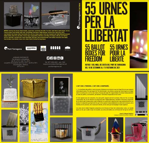 """Exposició """"55 urnes per la llibertat"""" - Del 10 de setembre al 17 d'octubre"""