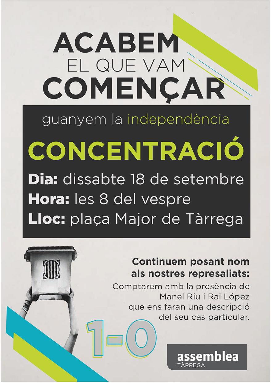 Concentració a favor de la Independència de Catalunya