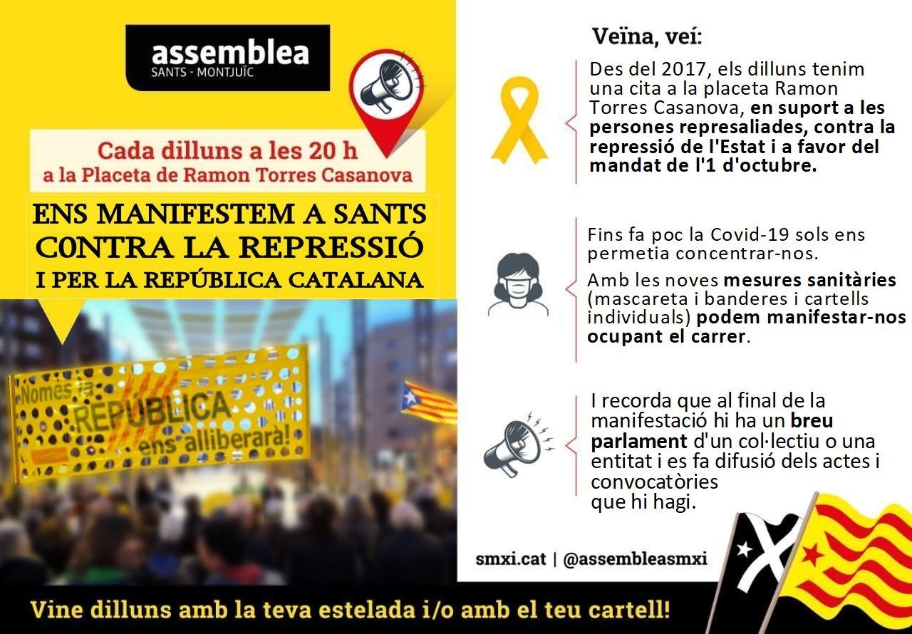 Manifestació: Per la Independència i en suport als represaliats