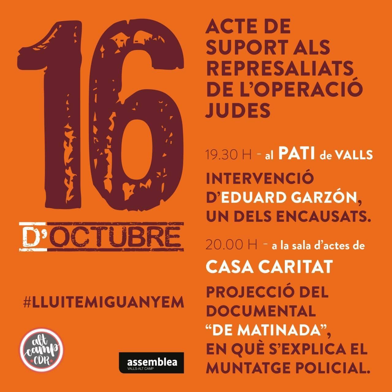 16 d'octubre - Lluitem i guanyem